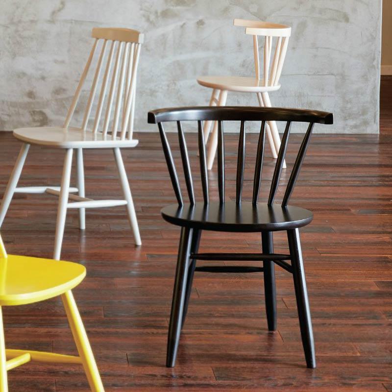 カラータイプ 木製椅子ダイニングチェアウィンザーチェア業務用店舗家具  oakley-color