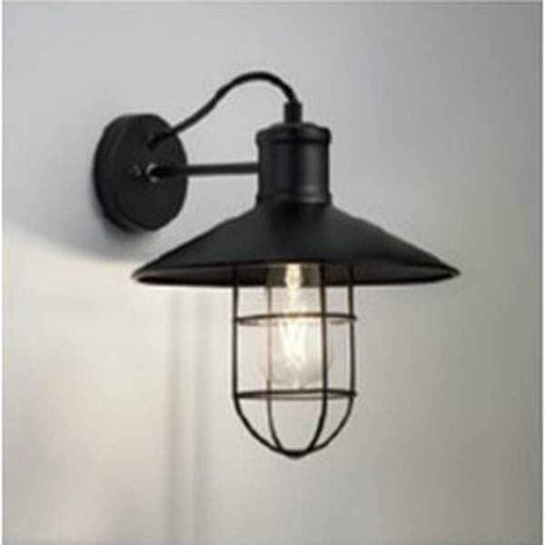 ブラケット照明 おしゃれレトロ 北欧ブラックオプション_ガード付壁面照明 erb6568b-rb657b