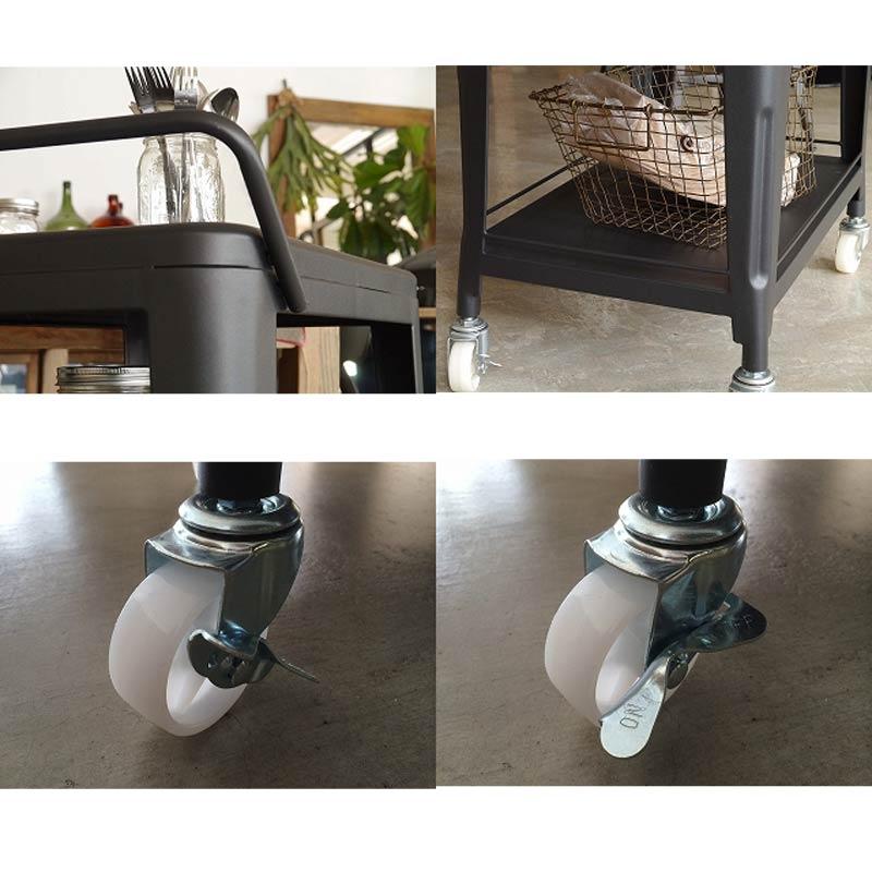 スチール製ワゴンツールワゴンダイニングキッチンワゴン 1601wagon-bk