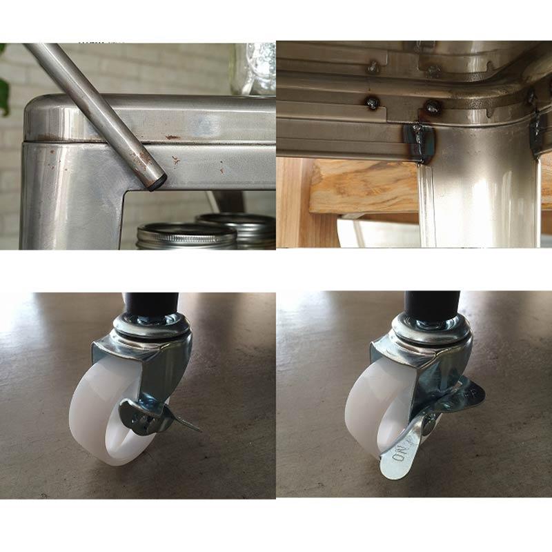 スチール製ワゴンツール花瓶台ワゴンダイニングキッチンワゴン 1601wagon-cl