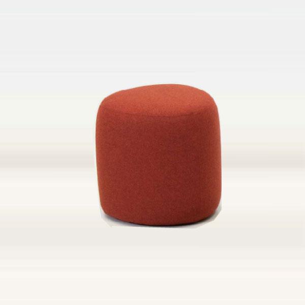 スツール ロビースツールチェア かわいい三角形型 布張りレッド幅45cm 完成品店舗業務用  myc1409rd