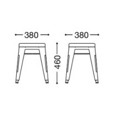 格安ロースツールチェア シンプルなアイアンブラック塗装 座高45cm 業務用店舗家具pangasstool-s45
