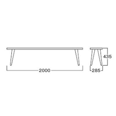 無垢ベンチ 無垢材 ダイニングベンチチェア長椅子 アッシュ材 2m muc0465bd