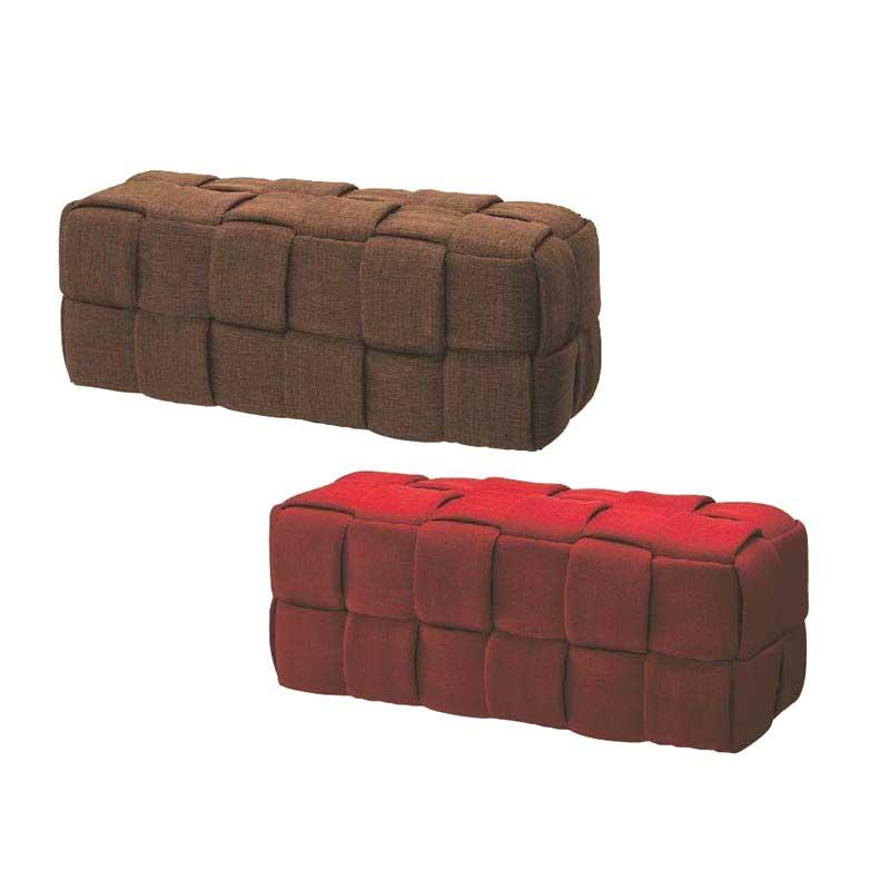 かわいい布ファブリック張りベンチソファ  おしゃれ2人掛けベンチチェア完成品4種 myc1113