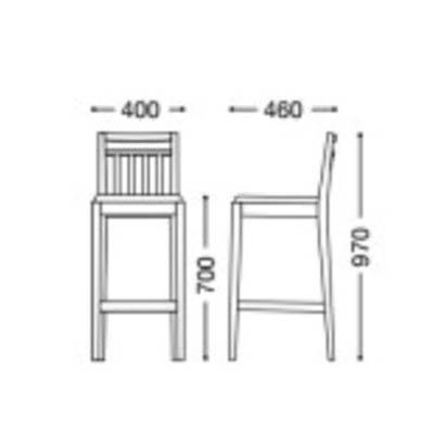 カウンターチェアバーチェア 椅子 天然木 木製 シンプル業務用店舗用完成既製品色2種類 calouste0-s