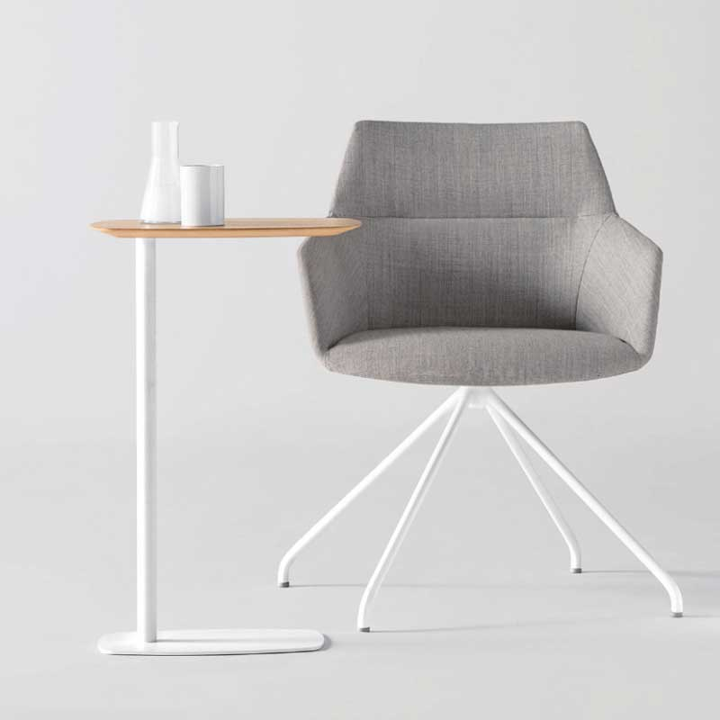 サイドテーブル ソファベッド脇 一人お茶テーブル カラー3種 幅55 奥行35 高さ66 商業用家具 mut0271