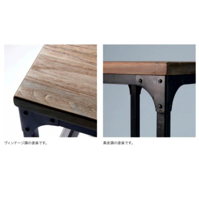 ワークテーブルダイニングテーブル60×75高さ70cm インダストリアル 家具レトロアメリカン インテリア業務用店舗家具 chicagotable60