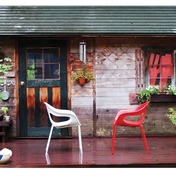 ガーデンチェアー おしゃれスタッキングチェア SUNNYチェアイタリア sunny-allcolor