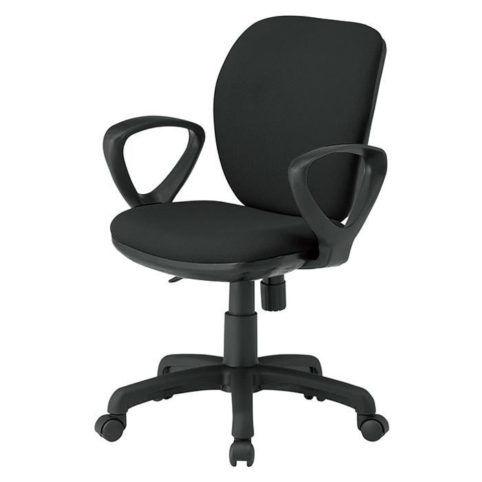 オフィスチェア FST-77A W581×D620×H830〜920mm 布張り A肘付 ミドルバックタイプ 【送料無料(北海道 沖縄 離島を除く)】 事務椅子 事務所 会社 上下昇降 TOKIO オフィス家具