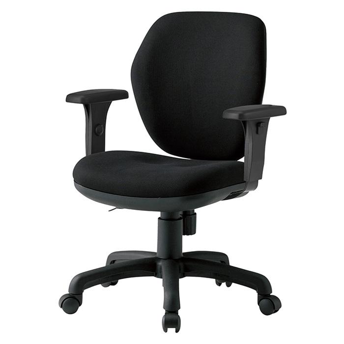 オフィスチェア FST-77AT W600×D620×H830〜920mm 布張り AT肘付 ミドルバックタイプ 【送料無料(北海道 沖縄 離島を除く)】 事務椅子 事務所 会社 上下昇降 TOKIO オフィス家具