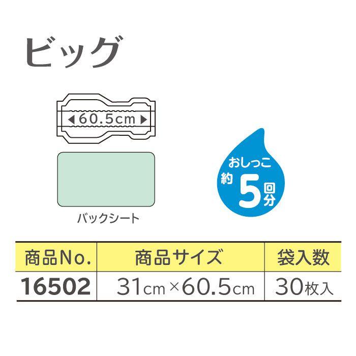 【リサイクル箱梱包でお届け】リフレ パッドタイプ ビッグ(30枚入)(おしっこ約5回分)