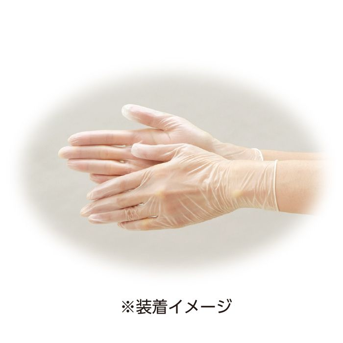 リフレ プラスチック手袋粉付きLサイズ(100枚入)
