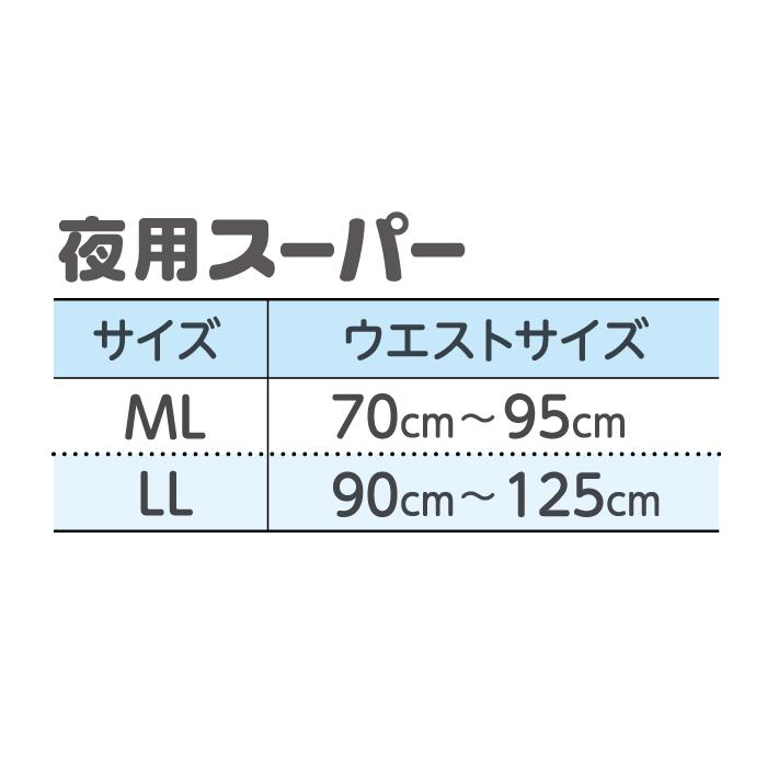 【無地箱でお届け】リフレ はくパンツ 夜用スーパー(ML:ウエスト70〜95cm)(20枚入×5袋)(おしっこ約6回分)