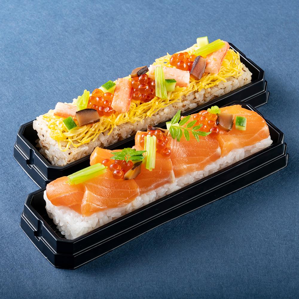 ふくいサーモンの昆布〆鮨 蟹ちらし鮨 2本セット