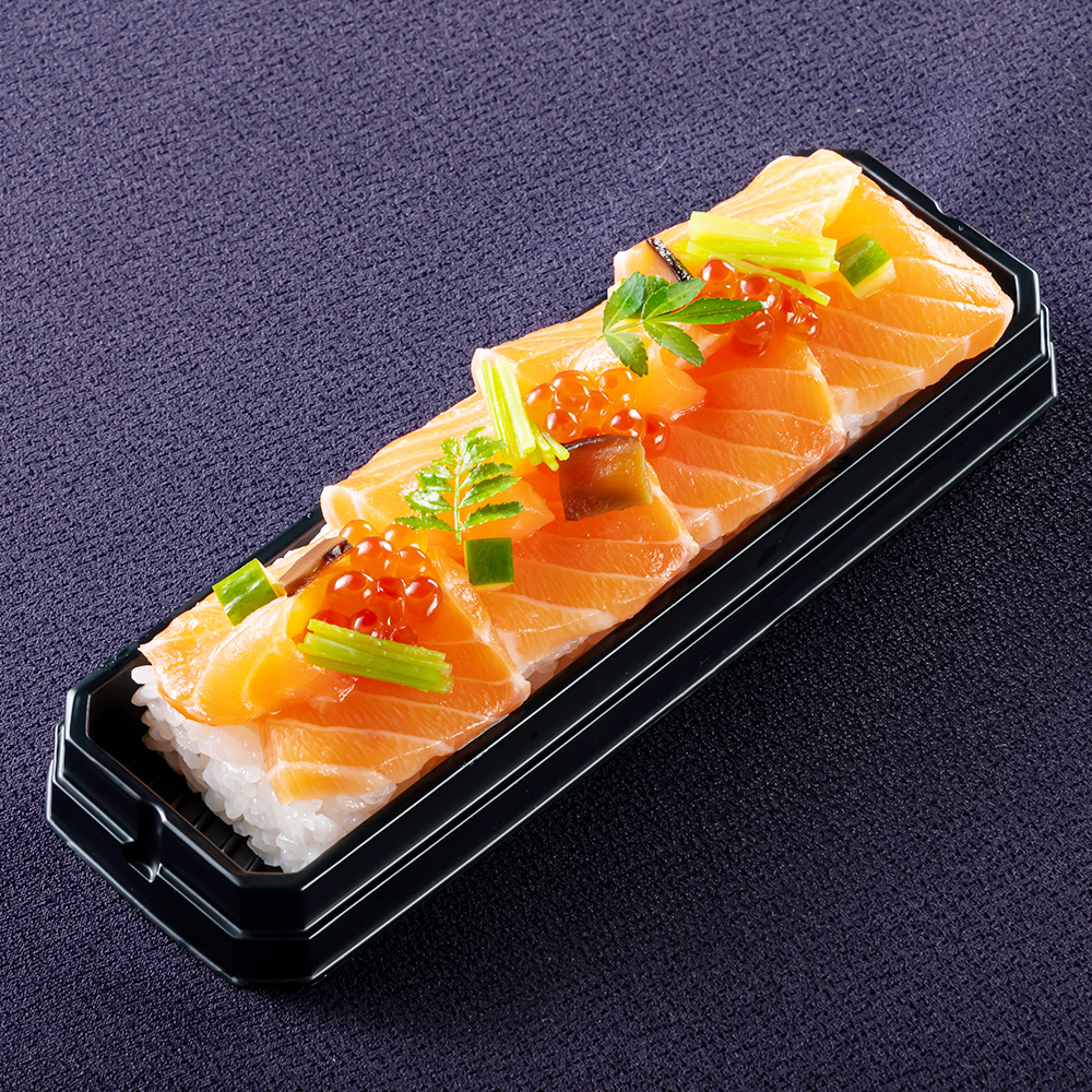 ふくいサーモンの昆布〆鮨とはらこ鮨 2本セット