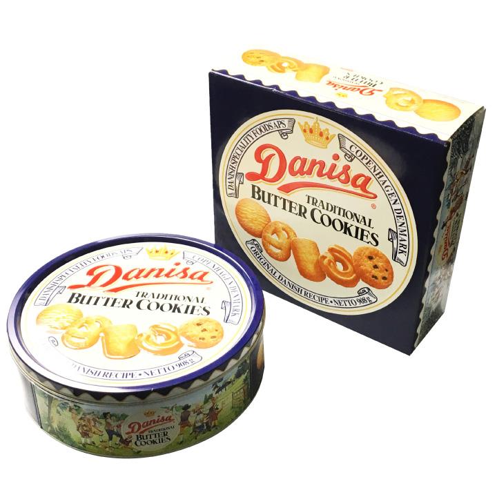 缶入り バタークッキー 908g 5種類 160枚 ダニサ デンマーク 伝統菓子 ギフト 菓子