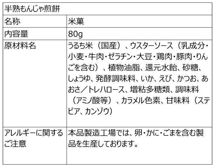 仙七 半熟せんべい三撰 カレー/しょうゆ/もんじゃ 8袋セット 各80g カレー味4袋、しょうゆ味2袋、もんじゃ味2袋 ミックス アソート
