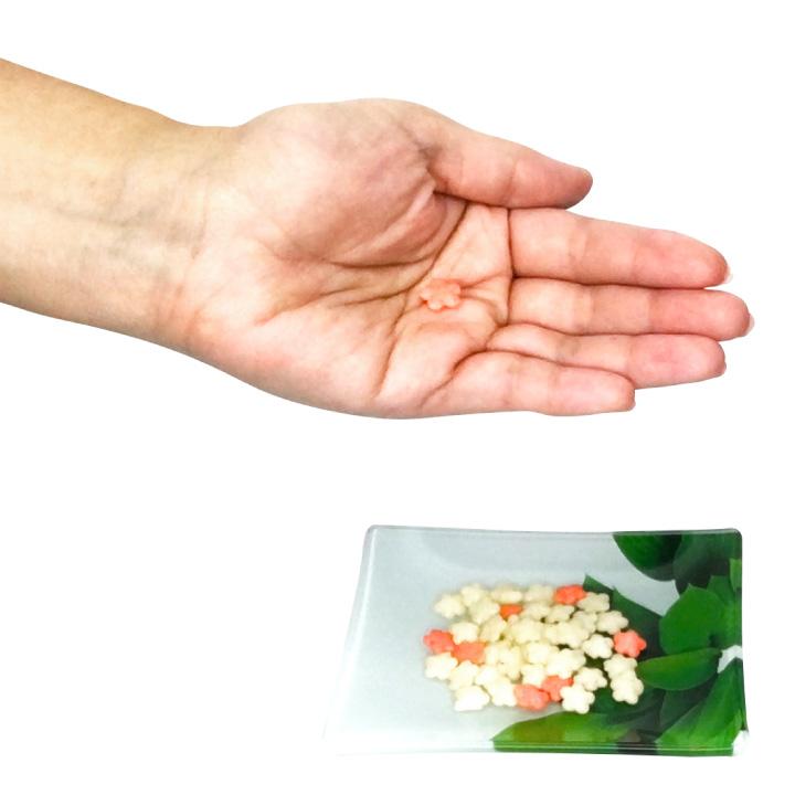 ミニ 紅白梅 あられ 梅味 200g(約34個) クリックポスト(代引不可) 小袋 小分け うめ 送料無料