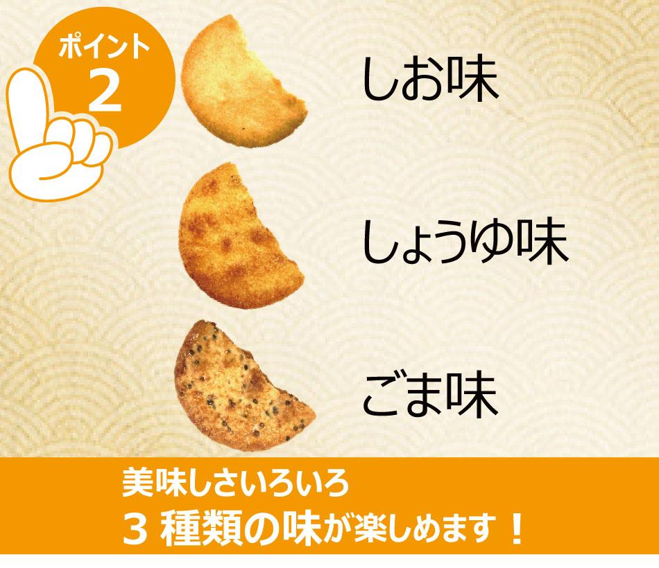 割れせんべい 1ケース 約2.8kg  (240g×12袋) 3種の味 塩 しょう油 胡麻 われせん こわれ 煎餅