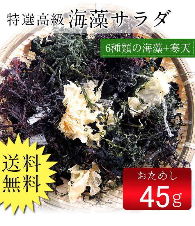 海藻サラダ45g(乾燥タイプ)ポッキリ  送料無料