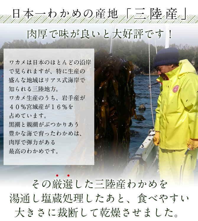 三陸産 カットわかめ (50g) 【メール便送料無料】岩手県産 厳選国産 わかめ 自然食品