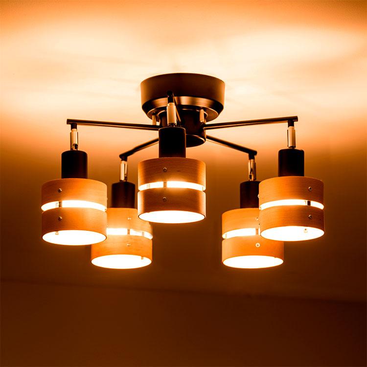 【選べる3タイプ 】シーリングライト LED対応・スポットライト 5灯 レダファイブ | 間接照明 ダイニング用 食卓用 リビング用
