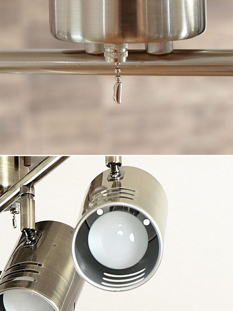 シーリングライト 4灯 レア LEA BBS-058 LED 対応・スポットライト プルスイッチ付 | ダイニング用 食卓用 リビング用 居間用 6畳 8