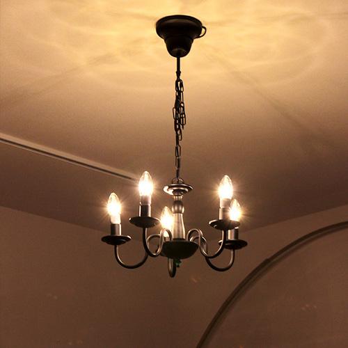 シャンデリア 5灯 Butler[バトラー] | シーリングライト 天井照明 照明器具 ダイニング用 食卓用 リビング ペンダントライト シンプル モダン 部屋 ひとり暮らし