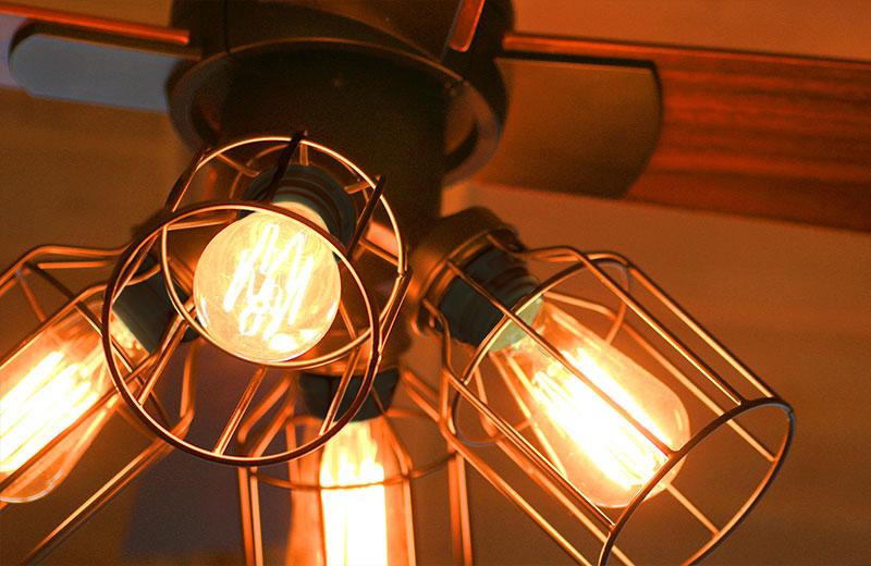 リバーシブルで羽色が変えれる リモコン付 シーリングファン 4灯 クワドロ JE-CF001V ジャヴァロエルフ | シーリンライト おしゃれ ブルックリン インダストリアル 天井照明 照明器具