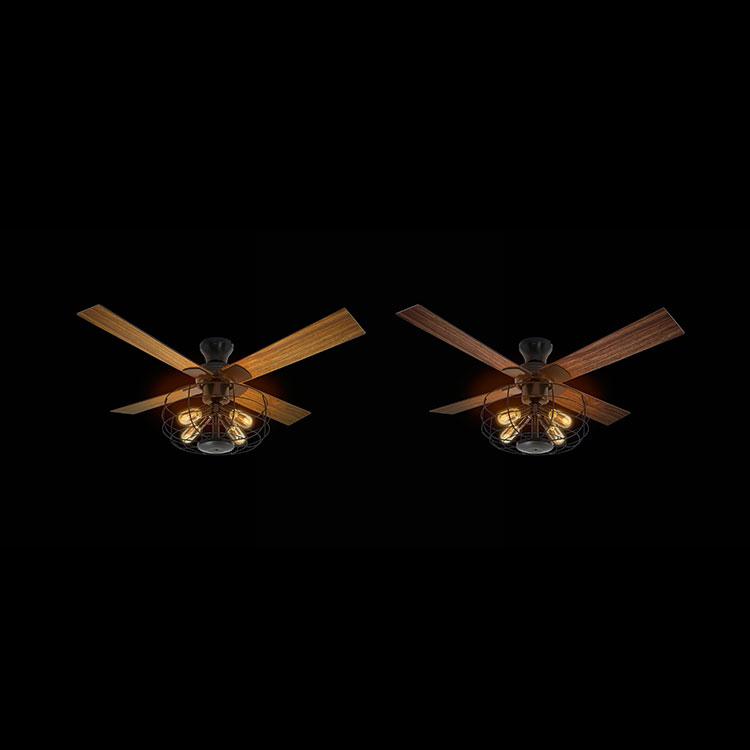 リモコン付 シーリングファン 4灯 サークル JE-CF002V ジャヴァロエルフ【シーリングファンライト ファン 照明器具 天井照明 吹