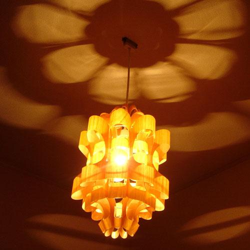 照明作家 谷俊幸 松2-マツ2- ウッド[MATSU2 WOOD]1灯 和風ペンダントライト|照明 天井照明 間接照明 デ