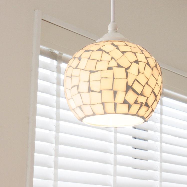 ペンダントライト 1灯 ビードロ[Vidlo]BBP-054 ボーベル | 天井照明 led モザイク ガラス ステンドグラス アジアン 北欧
