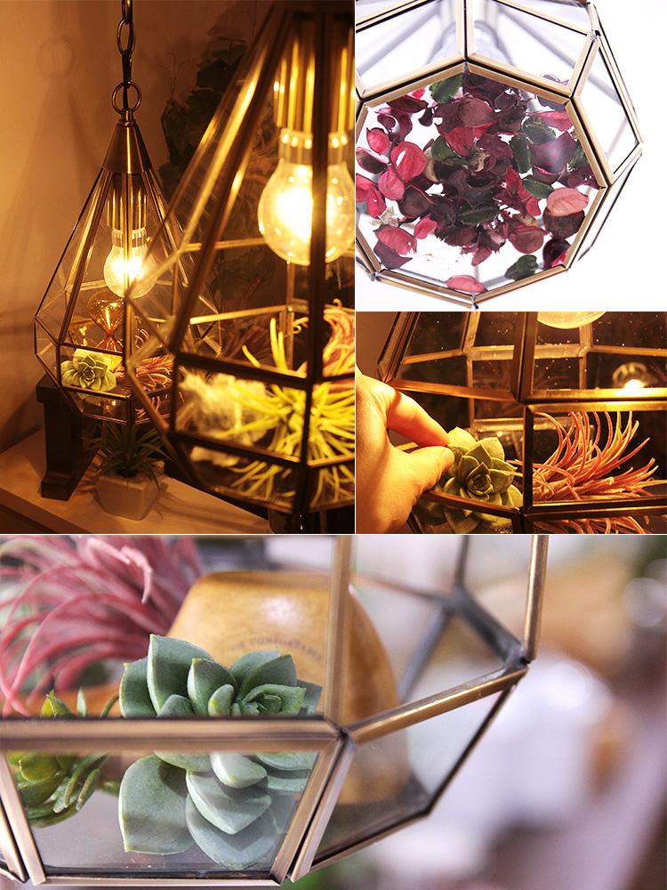 ペンダントライト 1灯 ロヴェール[Roverre] |テラリウム 真鍮 レトロ 天井照明 おしゃれ 北欧 ガラス アンティーク ディスプレイ