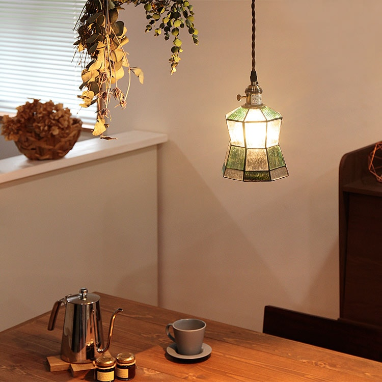 ペンダントライト 1灯 マヒナ BBP-106 ボーベル[beaubelle] 天井照明 照明器具 照明 ガラス ステンドグラス アンティーク 北欧