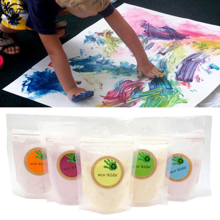エコ・キッズ 絵の具 5色 [eco-kids]【安全 水彩絵の具 フィンガーペイント 自然素材 かわいい 可愛い ギフト 出産祝い 野菜 果物 植物