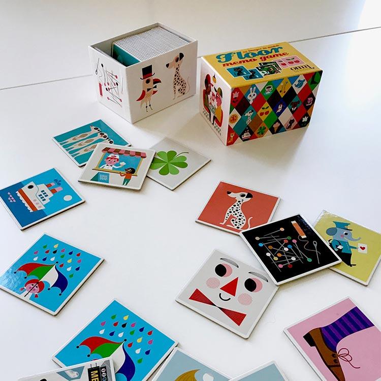 【OMM-design】メモリーゲーム Memory Game スクエア【ゲーム カードゲーム 神経衰弱 インゲラ・アリアニウス おしゃれ かわいい