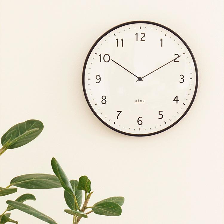 掛け時計 電波時計 linja リンヤ aina [アイナ] 壁掛け時計 アナログ ステップムーブメント 静音インテリア時計 おしゃれ かわいい シンプル モダン 北欧 寝室 書斎 リビング 在宅 テレワーク ギフト プレゼント 引越し祝い 新生活