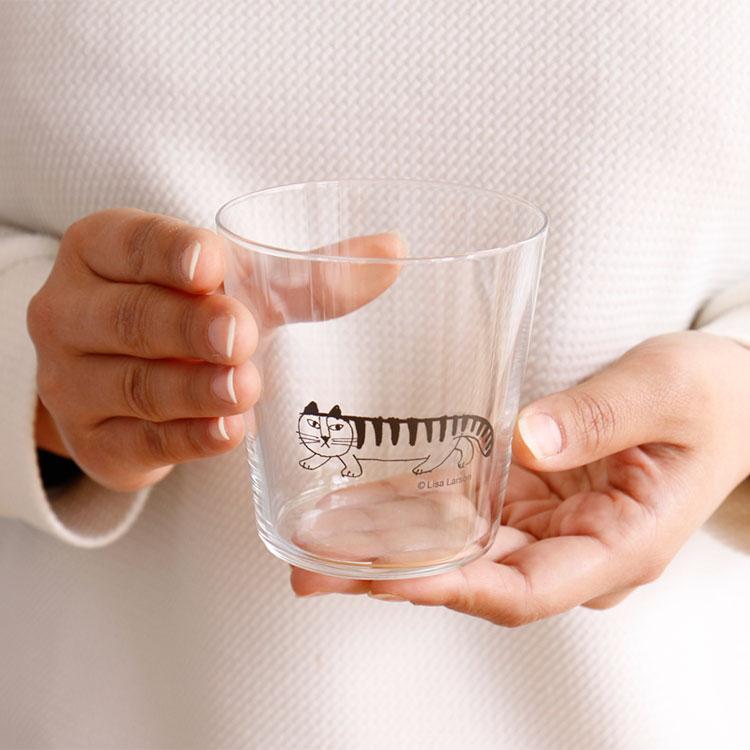LisaLarson リサラーソン スケッチ グラス【リサ・ラーソン グラス コップ 薄い ロックグラス ガラス マイキー ねこ 猫 猫グッズ キッチ