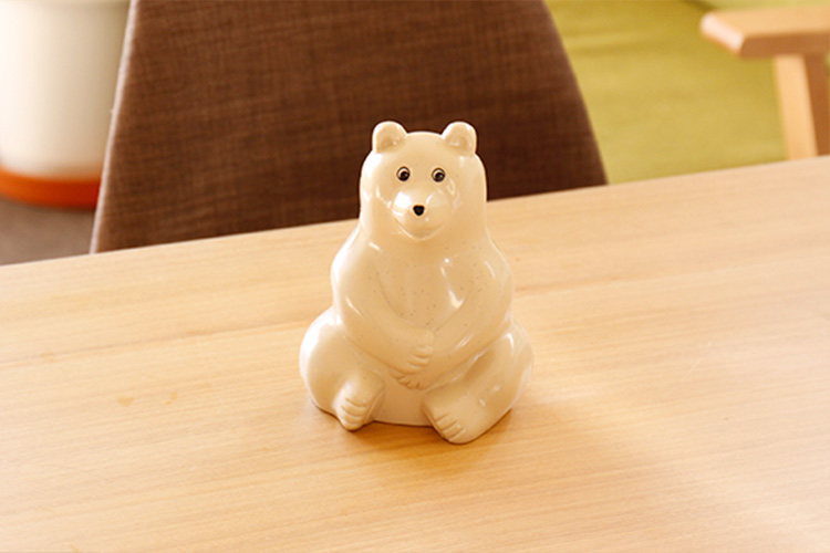フィンランドのしろくま貯金箱 Polar Bear Money box