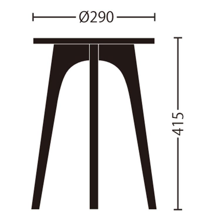 スツール abode アボード GLOBE【いす イス 椅子 スツール EDWIN ジーンズ コラボ インテリア 木 木製 北欧 テイスト