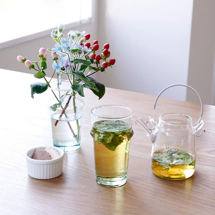 グラス dear morocco ディアモロッコ リサイクル ティーグラス 13cm【コップ ガラス 食器 キッチン ナチュラル モロッコ 洋食器