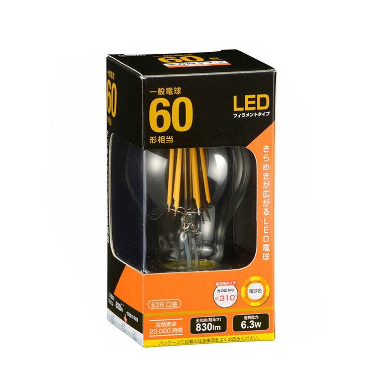 LED電球 クリア球 E26 60形
