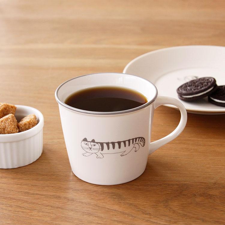 LisaLarson リサ・ラーソン マイキースケッチ マグカップ 300cc【Lisa Larson リサラーソン コップ マグ 陶器 食器 雑貨
