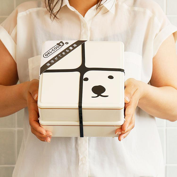GEL-COOま ランチボックス ファミリー 2段【GEL-COOL ジェルクール じぇるく〜ま 弁当箱 お弁当箱 お弁当グッズ お弁当 サラダ 保冷