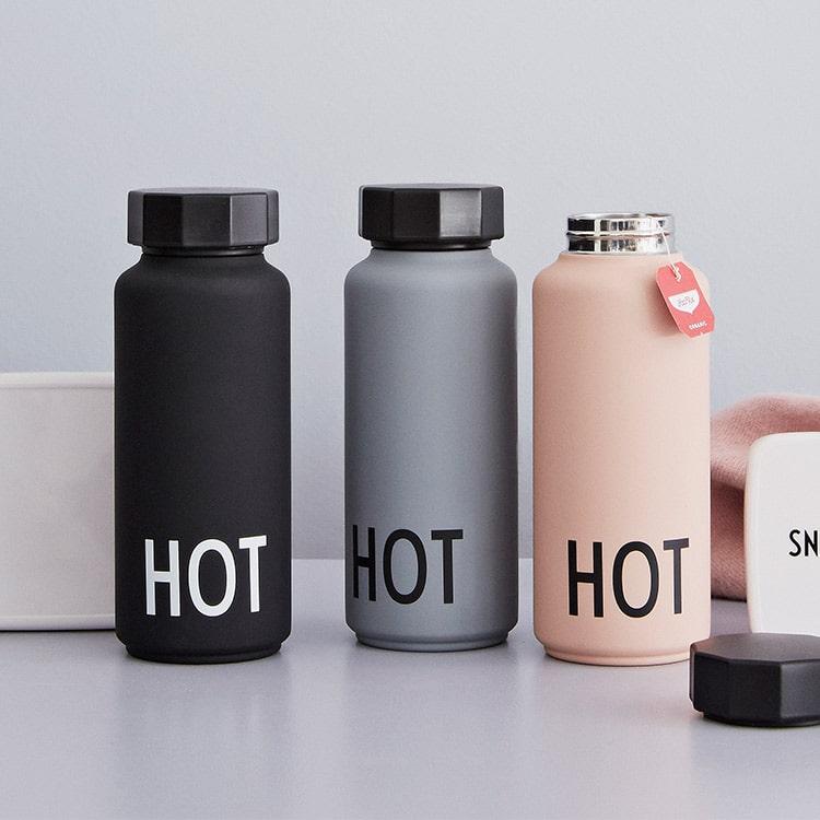 サーモボトルカラー デザインレターズ DESIGN LETTERS 500ml 水筒 ボトル 直飲み 保冷 保温 水分補給 タンブラー 北欧雑貨