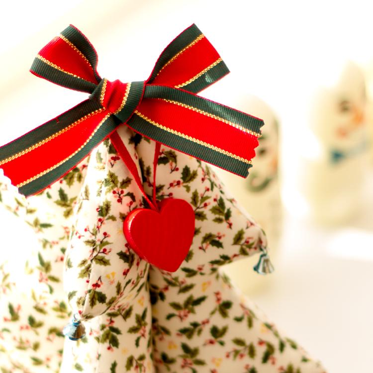 ラッセントレー Larssons Tra オーナメント ハート レッド【スウェーデン クリスマスツリー 飾り オブジェ オーナメント 木 かわいい】