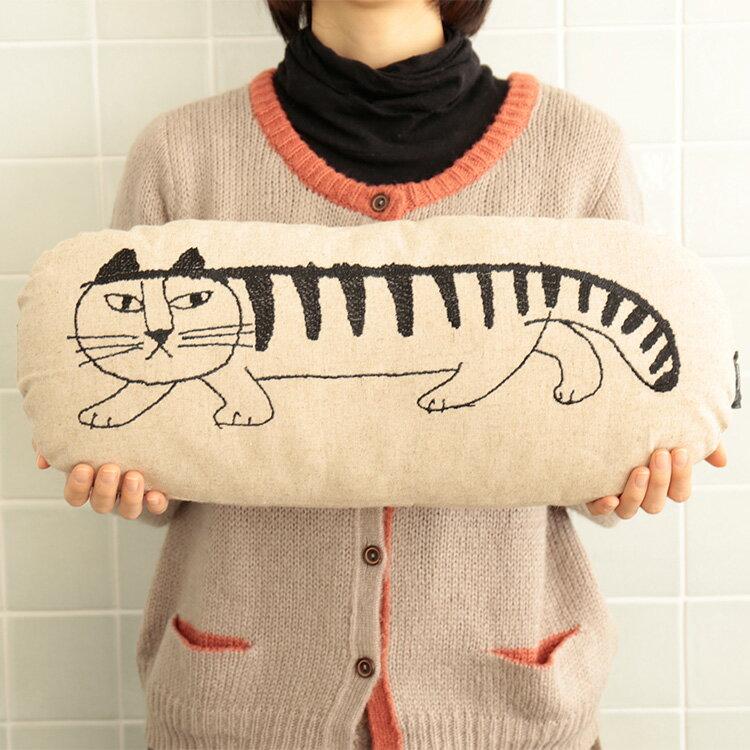 LisaLarson リサ・ラーソン リネンクッション 小【Lisa Larson リサラーソン クッション 丸 抱き枕 雑貨 リネン ねこ 猫