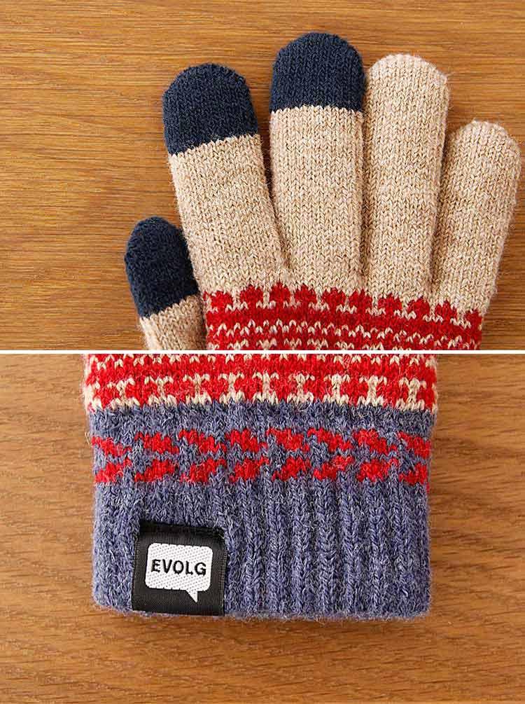エヴォログ EVOLG スマホ用 手袋 FLEUR【スマホ手袋 スマホ対応 スマートフォン対応 防寒着 ニット メンズ レディース