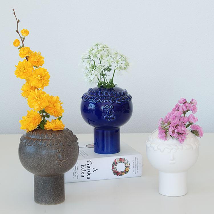 keramikstudion×Stig Lindberg フラワーベース リサ・ラーソン LisaLarson 陶器 花瓶 花器 オブジェ 飾り 北欧 かわいい おしゃれ 女性 ギフト プレゼント