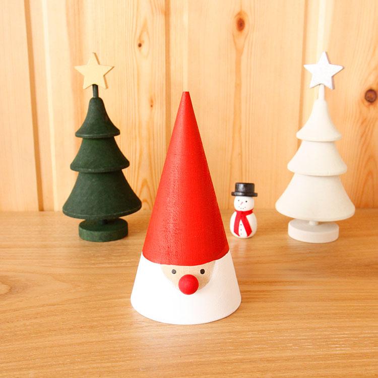 ラッセントレー Larssons Tra スウェーデン クリスマストムテ Lサイズ【オブジェ 置物 サンタ サンタクロース 木 木製 かわいい 可愛い】